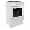 50cm Gas Single Cavity Cooker - White