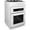 50cm Twin Cavity Gas Oven - White