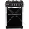 50cm Twin Cavity Gas Oven - Black/Stainless Steel