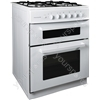 60cm Twin Cavity Gas Oven - White