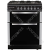 60cm Twin Cavity Gas Oven - Black/Stainless Steel