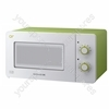 Lime Green Compact Manual Microwave Oven