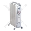 2KW Dragon Oil Filled Radiator with Exclusive 'Super Chimney Effect' for Fast, Silent Heating, Thermostat with Frost Guard Setting, and Timer.
