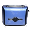 2 Stainless Steel Slice Toaster in Blue