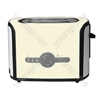 2 Stainless Steel Slice Toaster in Cream