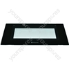 Indesit Top Door Glass Black