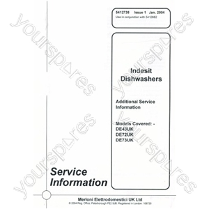 Indesit DE73UK Service Manual