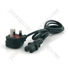 1m Mains to C15 Plug 13A Power Cable (Kettle Lead)