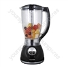 500W 2Ltr Blender With Grinder Attachment - Black