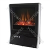 2000w Living Flame Electric Fire - Black