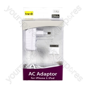 Apple iPod Nano G5 AC Mains Adaptor for iPhone & iPod - UK - Euro