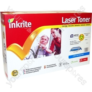 Inkrite Laser Toner Cartridge Compatible with HP Colour LaserJet CP4005 Cyan