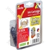 Inkrite NG Printer Ink Canon i250 i350 i4xx S200 S300 BJC 2000 4000 - BCI-21C BCI-24C Color (Crab)