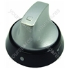 Knob Single Black  Aluminium