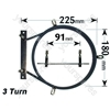 Electrolux 94417132900 2500 Watt Circular Fan Oven Element