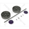 Dyson DC04ABS Assembly Kit y/Purple Vacuum Wheel