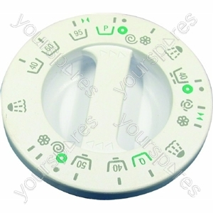 Indesit White Washing Machine Timer Knob