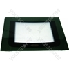 Hotpoint EW81G Main Oven Outer Door Glass w/ Green Detail