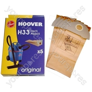 Hoover S5125 H33 Dust Bag (Pack of 5)
