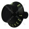 Cannon Black/Gold Oven Control Knob