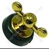 Hotpoint 48280 Dark Green Brass Finish Oven Control Knob