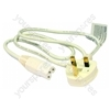 Kettle Lead Straight 1 Metre 13 Amp