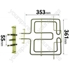 Whirlpool G2P61FBR Grill Element 2450w
