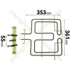 Whirlpool AKL848IX Grill Element