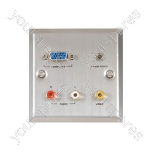 Audio/Video & VGA wallplate white