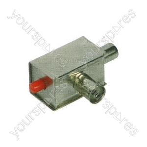 Adjustable 0-20dB attenuator, coaxial connector version