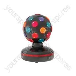(UK version) Rotating Disco Ball, 5- Colours, Free Standing