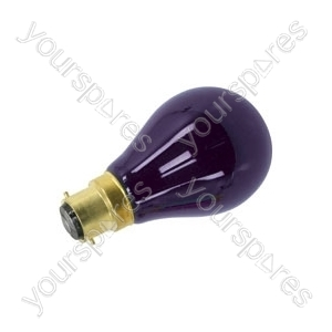 Black light bulb, BC, 75W