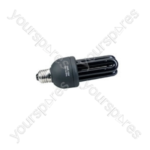 Black light, ultra violet lamp, low energy, E27, 15W