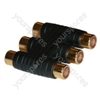 AV coupler 3 x RCA to 3 x RCA