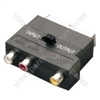 SCART to phono adaptor, stereo audio &amp; video in/out - nickel plated