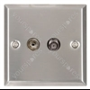 TV and Satellite wallplate white