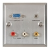 Thru-VGA / audio / video steel wallplate ST