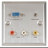 Audio/Video & VGA wallplate steel