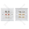 TV/Audio & Satellite/Audio wallplate silver