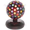 (UK version) Large rotating disco ball, 5 colours, free standing