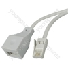 H003 Telephone extension lead, 10m - blister