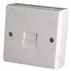 TL16 Telephone socket - 2/6A single surface, blister