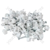 TL25 Telephone cable clips, white, 50 pieces - blister
