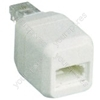 RJ11 to UK socket adaptor