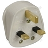 UK mains plug, 13A fuse, white
