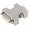 DVI-I socket to VGA plug adaptor