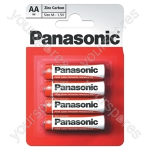 AAA Panasonic Zinc Carbon - 4 Pack