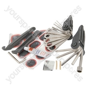 Bike multi-tool kit with pouch