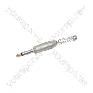 6.3mm Mono plug, heavy duty metal