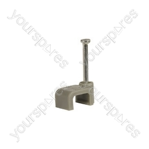 CF610G flat cable clips 6 x 10mm, grey - bag of 50